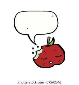 happy apple cartoon character