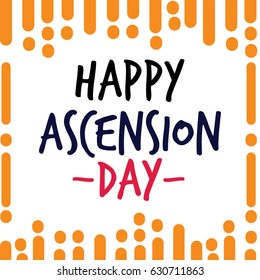 Happy Ascension Day Logo Vector Template