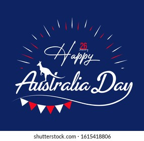 Happy Australia day. Australia national flag on hands. vector