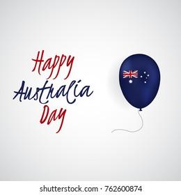 Happy Australia Day vector illustration.