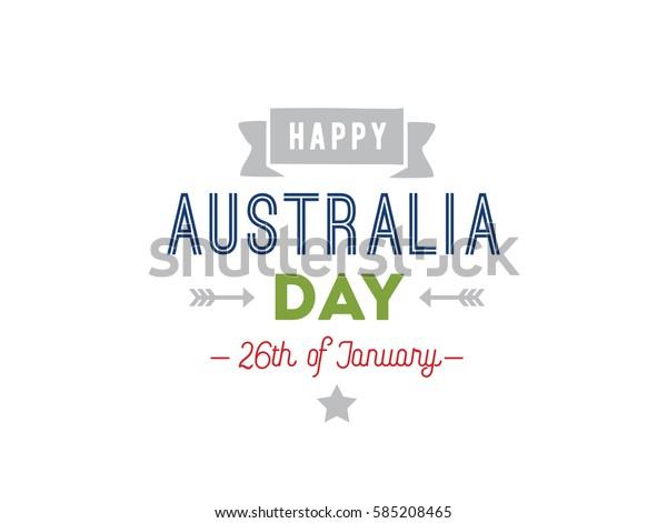 Happy Australia Day Vector Typography Text Stock Vector