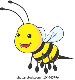 Happy Baby Bee Cartoon