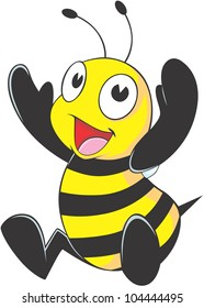 Happy Baby Bee Cartoon