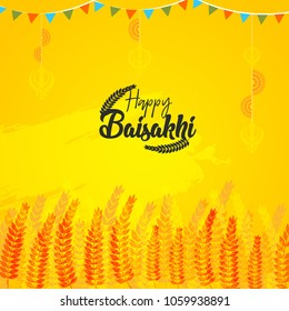 Happy Baisakhi Day Banner Background.