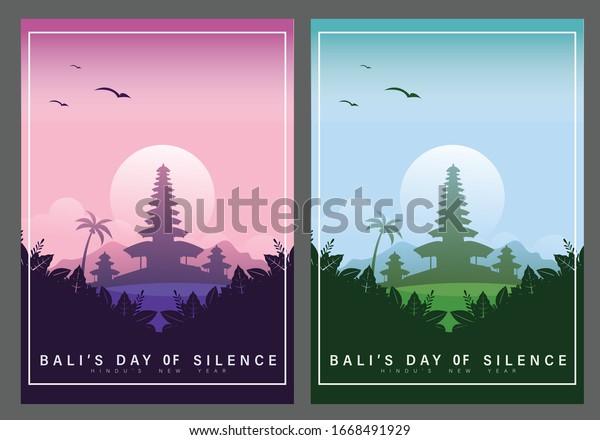 happy balis day silence hindu new stock vector royalty free 1668491929 shutterstock