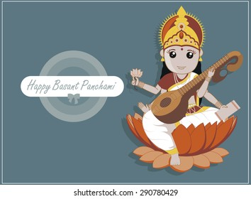 Happy Basant Panchami - Indian Goddess Saraswati Festival