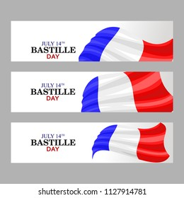Happy bastille day vector illustration. Suitable for greeting card, poster and banner.