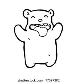 happy bear cartoon
