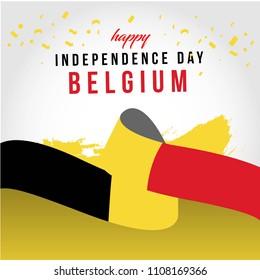 Happy Belgium Independent Day Vector Template Design Illustration