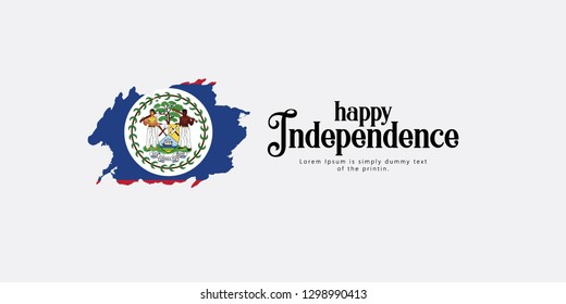 Happy Belize Independence Day Vector Template Design Illustration