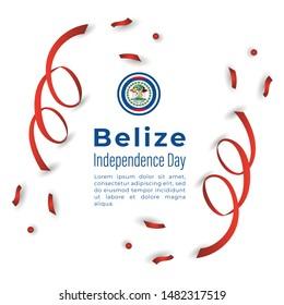Happy Belize Independence Day Vector Design Template Illustration