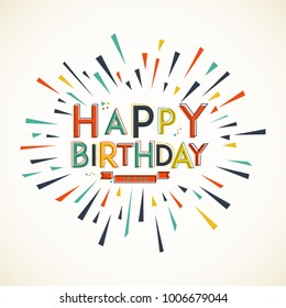 Happy Birhday. Greeting card design. Vector elements. Eps 10.