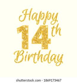 Happy 14th Birthday Images, Stock Photos & Vectors | Shutterstock