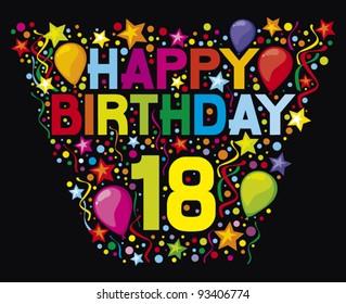 happy birthday 18 th party design