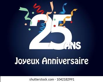 happy birthday 25th birthday in french language