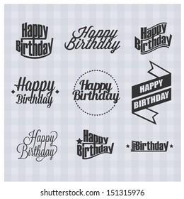 happy birthday text images stock photos vectors shutterstock