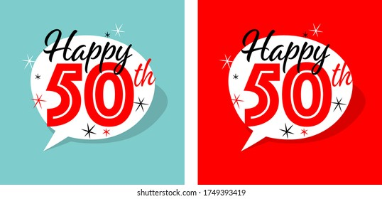 Happy birthday 50th in two different background