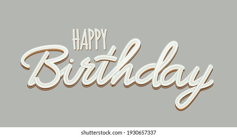 Happy Birthday abstract gray Background. Vector Illustration EPS10