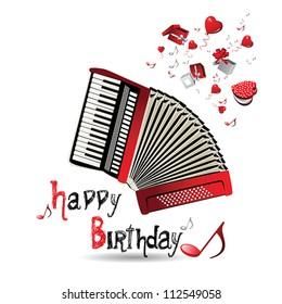 Happy Birthday accordion