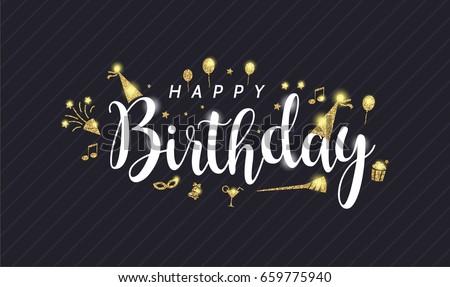 Happy Birthday All You Guys Stock Vector (Royalty Free) 659775940