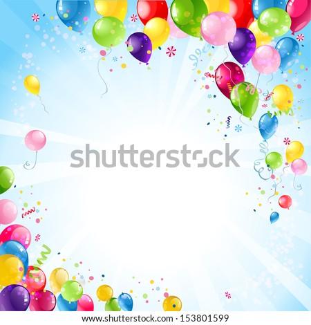 happy birthday background balloons stock vector royalty free