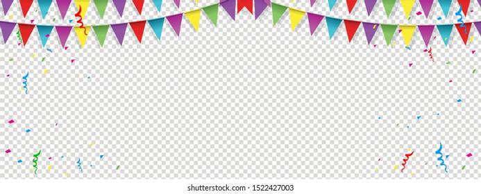 Happy birthday background banner. happy birthday with transparent background