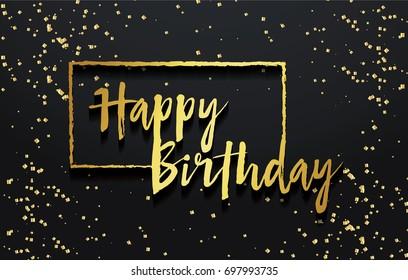 Happy Birthday background. Greeting invitation card