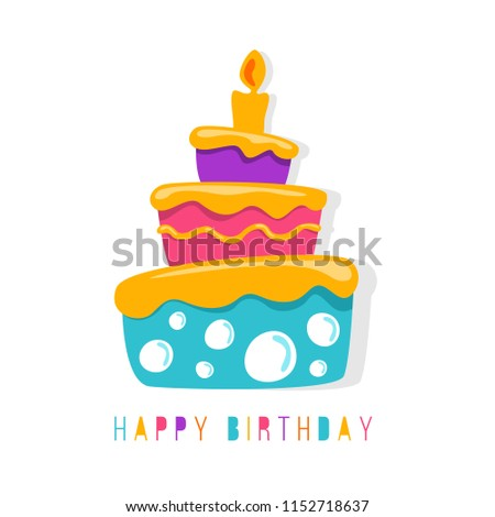happy birthday banner abstract simple cute stock vector royalty