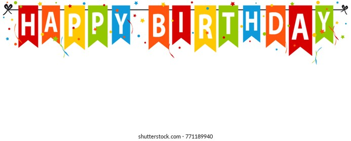 happy birthday banner images stock photos vectors shutterstock