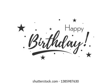 Happy Birthday banner. Typography greeting card or invitation. Vector background