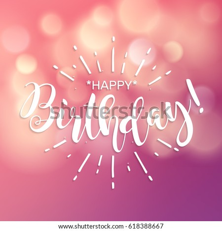 Happy birthday beautiful greeting card poster stock vector royalty beautiful greeting card poster with calligraphy white text word hand drawn pink m4hsunfo