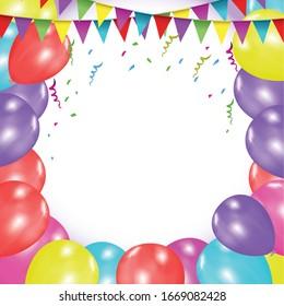 happy birthday border png transparent background