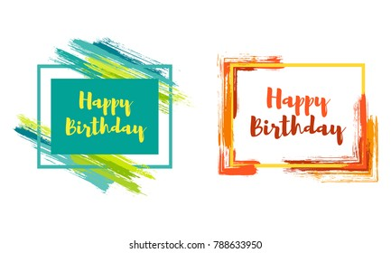 Trendy Birthday Frame Images, Stock Photos & Vectors | Shutterstock