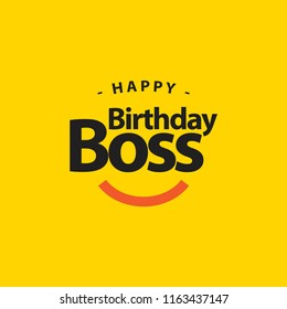 Happy Birthday Boss Vector Template Design Illustration
