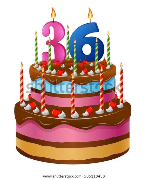Happy Birthday Cake 36 库存矢量图(免版税)535118458