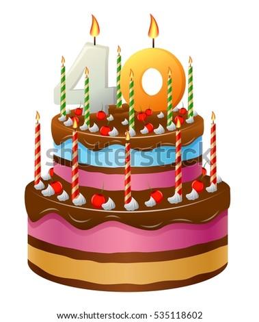 Happy Birthday Cake 40
