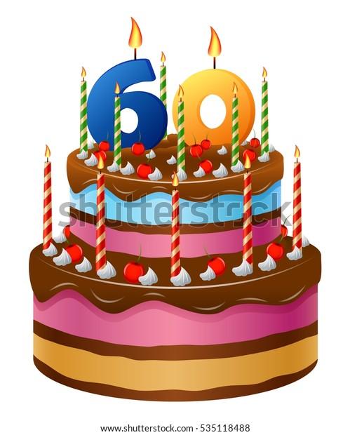 Happy Birthday Cake 60