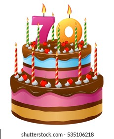 Groovy 70 Birthday Cake Images Stock Photos Vectors Shutterstock Funny Birthday Cards Online Fluifree Goldxyz