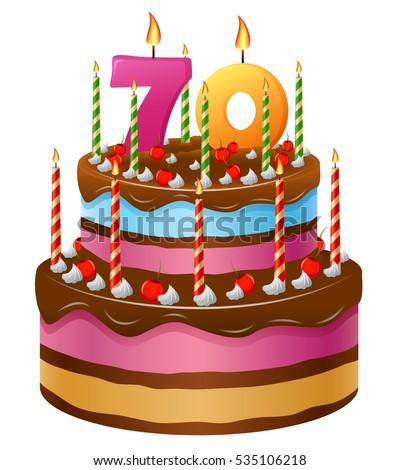 Happy Birthday Cake 70