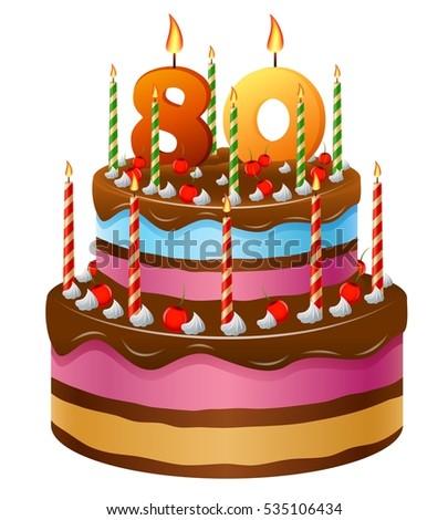 Happy Birthday Cake 80