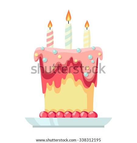 Happy Birthday Cake Color Image