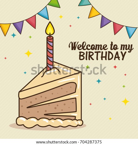 Happy Birthday Cake Design Image Vectorielle De Stock Libre De
