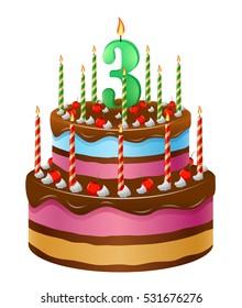 Happy Birthday Cake 25 Stock Illustration 543044590 Shutterstock