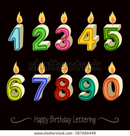Happy Birthday Candles In Numbers