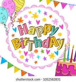 Happy Birthday Card Image Vectorielle De Stock Libre De Droits De