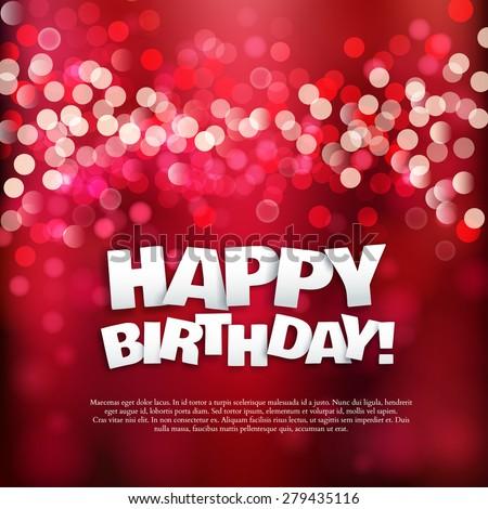Happy Birthday Card Stock Vektorgrafik Lizenzfrei 279435116