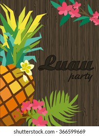 Happy Birthday card. Aloha party