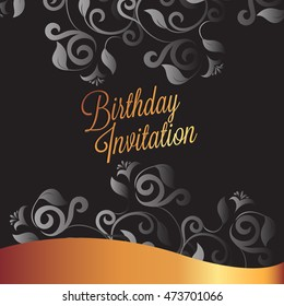 Happy Birthday card and background design