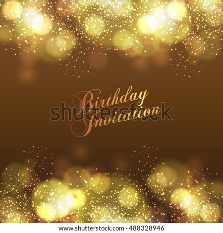 Happy Birthday Card Background Design Stock Vector Royalty Free