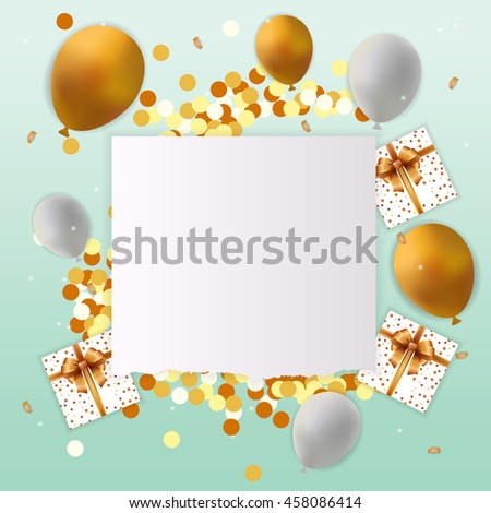 Happy Birthday Card With Blank Sign